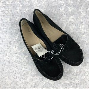 Merona Mallory Black Faux Suede Moccasin Loafers